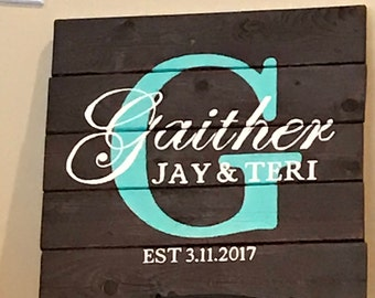 Family Name Personalized Wooden Sign **Great Wedding/Anniversary Gift