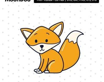 Fox svg etsy - Clipart renard ...