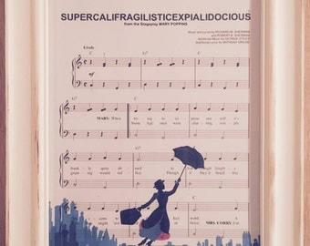 Mary Poppins Print - Supercalifragilisticexpialidocious