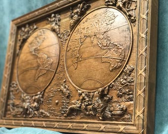 World Map Carving