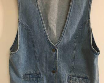 Vintage 80's denim vest.