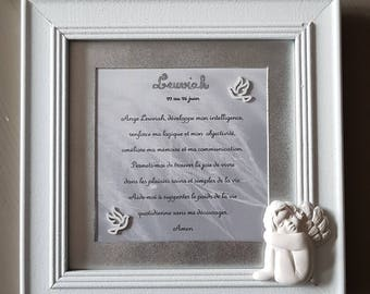 decorative frame with your guardian angel prayer