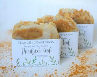 Handmade Organic Soap, Flawless Complexion, Natural Soap, Homemade soap, Soap Bars, Bentonite Clay Turmeric Soap, Clean Soap, Turmeric soap