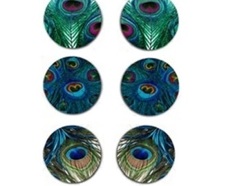 16mm cabochons feathers 3paires