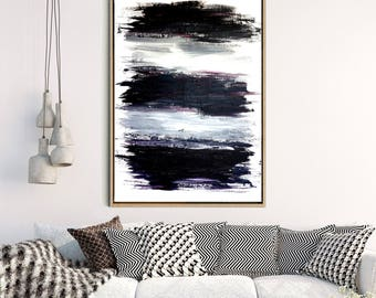 Black And White Art Print, Abstract Wall Art, Abstract Print, Black Abstract Art,  Large Art Print, Home Decor, Wall Decor, Instant Download