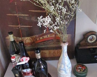 Wanderlust Wine Bottle Vase