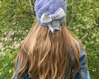 Pretty knitted bow Hat