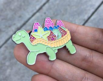 Raspberry Tartle Soft Enamel Glitter Pin