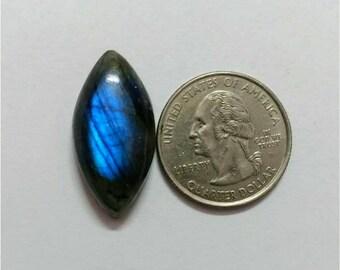28.56 x 13.38 mm, Marquise Shape Labradorite Cabochon/Blue  flaseh/Attractiv Labradorite/wire wrap stone/pendent size Labradorite/ Cabochon