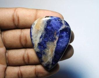 Natural Sodalite cabochon gemstone, Sodalite gemstone loose stone, sodalite loose gemstone, Sodalite [50x37]80 Ct#255