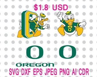 Oregon Ducks Logo Svg Dxf Eps Png Jpg Cdr Ai Cut Vector File Silhouette Cameo Cricut Design Vinyl Decal