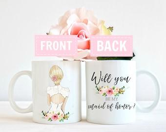 Ask maid of honor mug, be my maid of honor mug, maid of honor proposal mug, maid of honor o gift, maid of honor gift, Will you be my maid