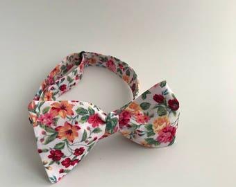 Self Tie Bow Tie- Bouquet