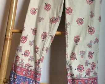 Ralph Lauren Polo Jeans Co Vintage wijduitlopende broek met prachtige floral print.