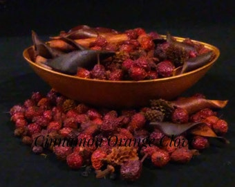 Potpourri/ Ethereal Bowl Filler Potpourri/ Orange Cinnamon Clove Scent/ Dried Rosehips/Air Refresher/ On Sale!!