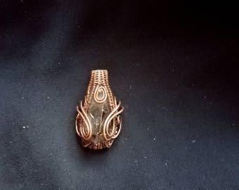 Smokey Quartz and Copper Pendant