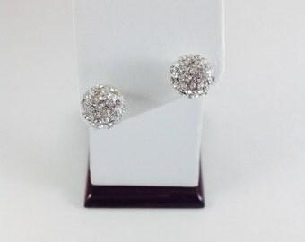Wedding Bridal stud Earring, Clear Rhinestone stud Earrings, Bridal jewelry, party jewelry, Earrings, Rhinestone Earrings, Rhinestone Stud