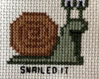 Snailed It Cross-Stitch