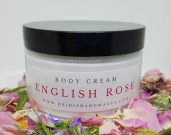 English Rose Body Cream - English Rose Moisturizing Cream - English Rose Lotion - For Rose Lovers