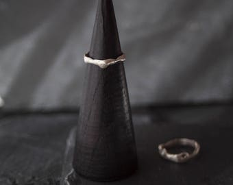 Sterling silver ring / Organic ring / Unrefined ring / Modern ring /