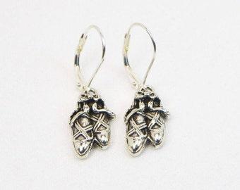 Ballerina Slipper Earrings - Ballet Jewelry - Ballet Gift - Dancers Gift - Gift For Her - Dangle Earrings