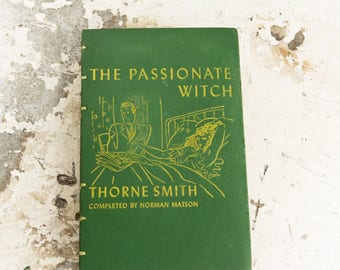 1942 PASSIONATE WITCH Vintage Notebook Journal