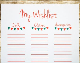 Printable Christmas List For Kids Blank Christmas List