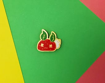 Red Bunnberry Acrylic Pin