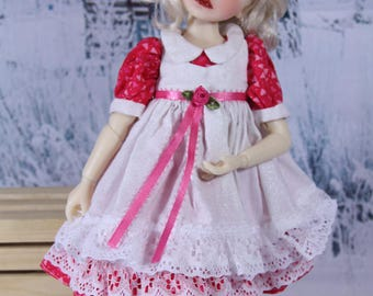 Dress and apron pattern for Little Darling, My Meadow, and other 13 inch dolls