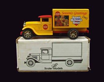 1992 Bank Ertl Freight Truck Bank Vintage Coca-Cola Ronald McDonald House Season's Greetings Coca-Cola Santa Claus