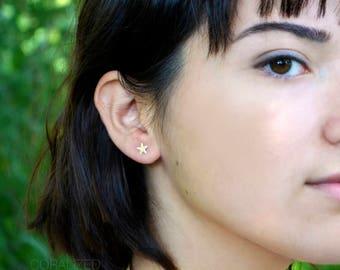 Star Stud Earrings, Star Earrings, Gold Star Earrings, Post Earrings, Small Star Post Earrings