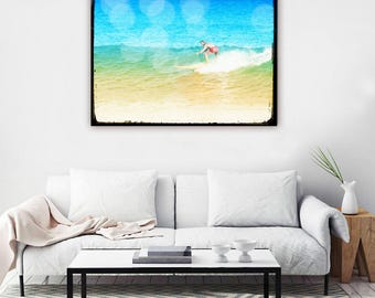 Surf Art, Surf Canvas Wall Art, Surfer Art, Ocean Photography, Surfing Wall Art, Surfer Photography, Beach Decor, Surf Decor, Laird Hamilton