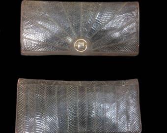 Pelletterie, 70's Clutch, Snakeskin Clutch, 70's Snakeskin clutch, Italy