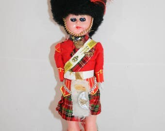 Vintage Scottish Doll, Scottish Highlander Doll