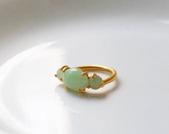Cita ring 24k gold plated silver