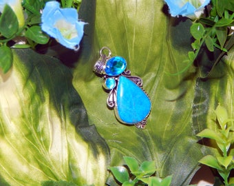 Vampiric Elf hybrid inspired vessel - Handcrafted Sleeping Beauty Turquoise necklace