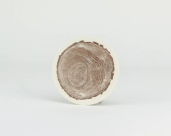 10-Pack of Log Round Coaster / Letterpress Coaster / Reusable Coaster / Coaster 10 Pack / Log Round Coaster / Rustic Decor / Paper Coaster
