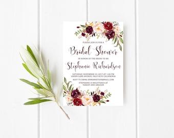 fall bridal shower invitations