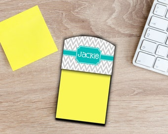 Gifts for Coworkers Personalized Sticky Note Holder Office Accessories Desk Decor Monogrammed Gift for Employees