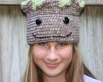 FREE SHIP Groot Baby Groot Guardians of the Galaxy Inspired Hat with Wired Top - All Sizes