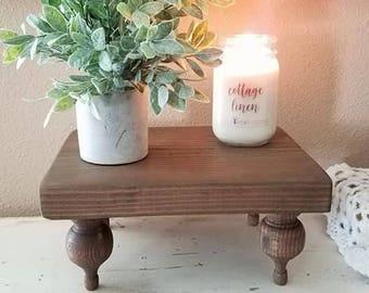 Wood Tray - Decorative Tray - Pedestal Tray - Bed Tray -