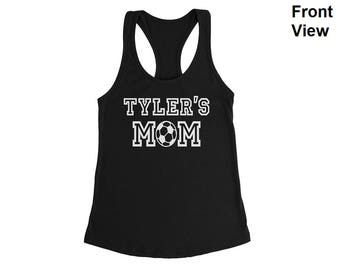 Personalized Soccer Mom Shirt, Soccer Mom Tank Top, Soccer Mom Custom Tank, Soccer Shirt, Soccer Tank Top