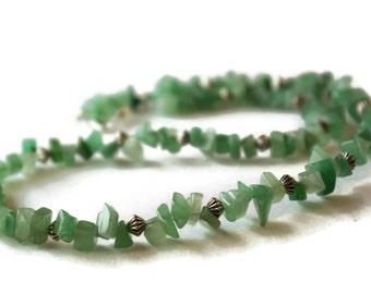 Green necklace, aventurine necklace, adventurine necklace, gemstone necklace, Valentines Day, Birthday present, Anniversary gift