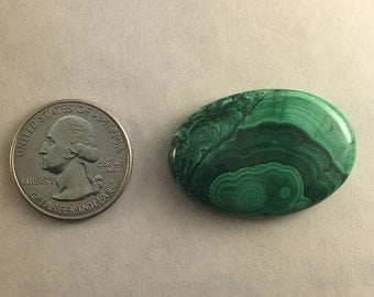 Large AAA Quality Malachite approx. 37mm x 25mm