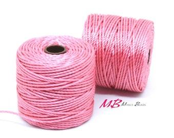 Pink S-Lon Macrame Cord 77 Yards, Nylon Beading Cord .5 mm