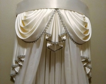 Elegant Crown Canopy Price Includes Curtain And Frame