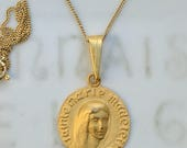 Necklace - Mary of Magdala - 18K Gold Vermeil 19mm + 18 inch Gold Chain