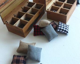Watch Box For Men  |  handmade with cushions, rustic reclaimed wood wooden, valentine's day, 5th anniversary gift for him, display case