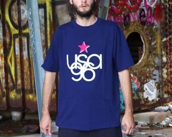 1996 USA 96 navy t-shirt size large