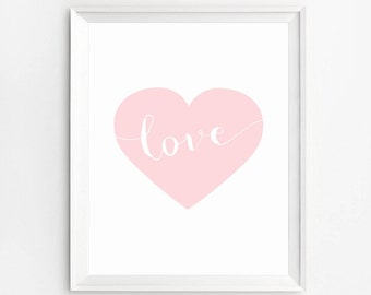Love Wall Art, Heart Wall Art Print, Wall Art Prints, Nursery Print, Love Print, Baby Prints, Love Poster, Nursery Wall Art, Nursery Decor